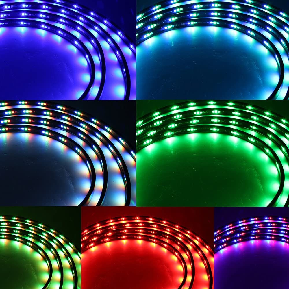 Extension Wire//Cable//Cord For 7 Color LED Under Car Glow Underbody System Neon Lights Kit 48 36 /& 24 Strips 9.8 ft //118 inch Xprite 1 Pack Of 3M