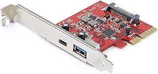 StarTech.com 2-Port 10Gbps USB-A & USB-C PCIe Card - USB 3.1 Gen 2 PCI Express Type C/A Host Controller Card Adapter - USB...