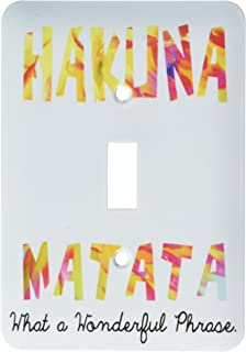 3dRose lsp_193344_1 Hakuna Matata What a Wonderful Phrase Light Switch Cover