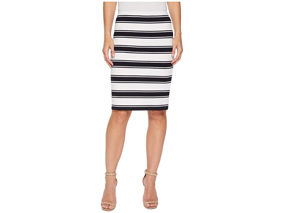 Karen Kane Stripe Pencil Skirt (Stripe) Women