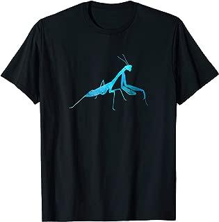 Praying Mantis Rustic Blue T-Shirt
