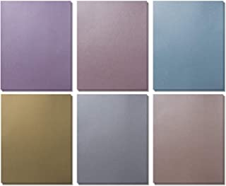 Shimmer Paper - 120 Metallic Shimmer Paper in 6 Colors - Pearlescent Paper - Shinny Arts & Craft Papers, Bridal Shower, Gift Wrapping, Paper Craft Flowers, 8.5 x 11 Inches (120 Pack)