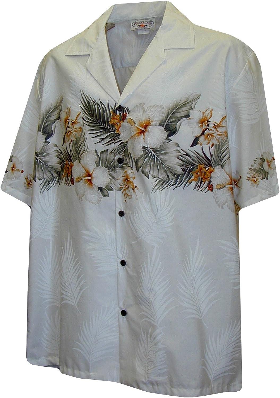Pacific Legend Boys Tropical Garden Shirt White XL
