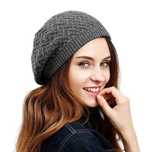 JULY SHEEP Women s Lady Knitted Beret hat Merino Wool Braided hat French  Beret for Winter Autumn bb04948811d