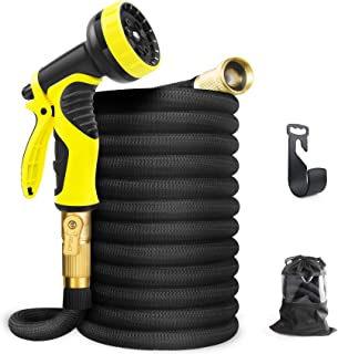 """Aterod Expandable Garden Hose, 50ft Strongest Flexible Water Hose, 9 Functions Sprayer with Double Latex Core, 3/4"""" Solid ..."""
