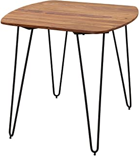 FineBuy Table à Manger Bois Massif Sheesham Table de Cuisine avec Pieds en métal 80 x 76 x 80 cm | Table de Salle à Manger...