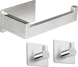 Qeekzeel Toiletpapierhouder zonder boren, wc-rolhouder van roestvrij staal, voor badkamer en keuken
