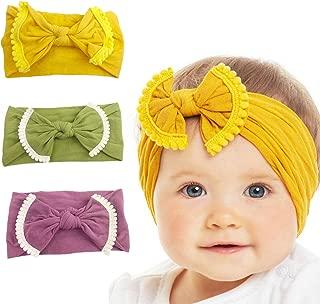 3 Packs Baby Headbands Baby Turban Headwraps Hats Turban Bun Knot Baby Infant Beanie Baby Girl Soft Cute Toddler Cap