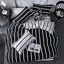 مجموعة اغطية السرير بتقليمات بيضاء (بدون لحاف) للاطفال من الجنسين من سو فام 4 قطع، تتضمن غطاء لحاف عدد 1 وملاءة سرير عدد 1...
