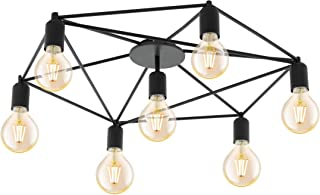 EGLO STAITI - Lámpara de techo, acero, 60 W, color negro