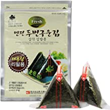 Man Jun Onigiri Nori Rice Ball Triangle Sushi Seaweed Wrappers, 40 Sheets