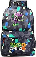 AUGYUESS Game Plants vs. Zombies Backpack School Bag Daypack Bookbag Shoulder Bag Laptop Bag