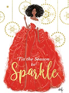 African American Expressions - Christmas Cards, Season to Sparkle Nicholle Kobi, 5 x7 Inch, C-960