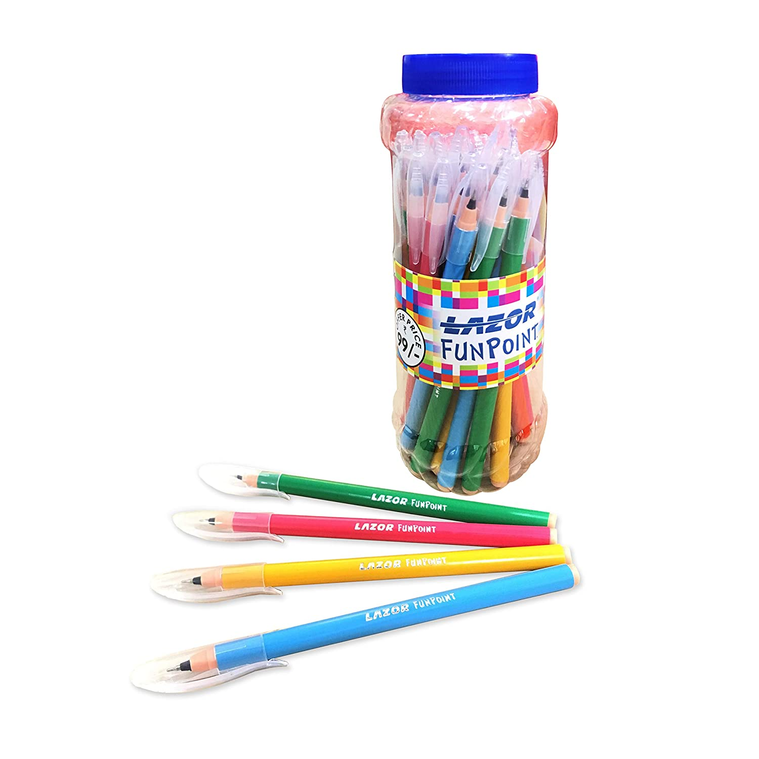 Linc Lazor Funpoint Ball Pen Jar, Blue Ink, Pack of 25 : Amazon.in: Office  Products