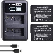 PowerTrust 2 Pack DMW-BLC12 Battery and Charger for Panasonic DMW BLC12, DMW-BLC12E, DMW-BLC12PP and Panasonic Lumix DMC-G85, DMC-FZ200, DMC-FZ1000, DMC-G5, DMC-G6, DMC-G7, DMC-GH2, DMC-GX8, DMC-G85 C