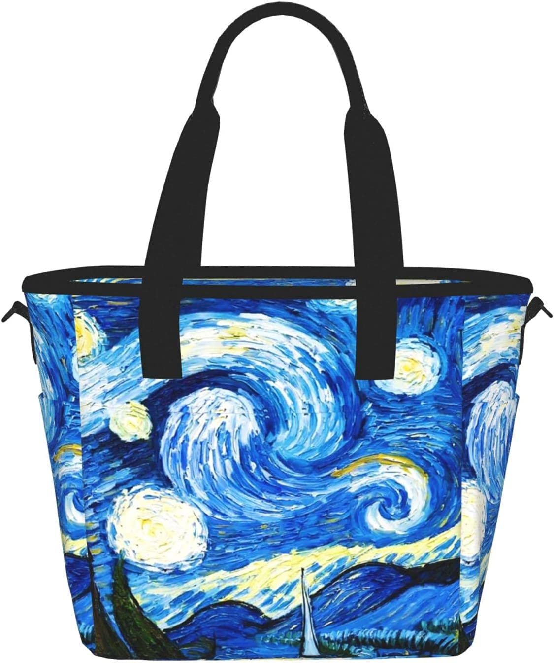 Washington Mall Starry Night Van Gogh Reusable Insulated Con Bag Sales of SALE items from new works Food Lunch Tote