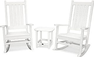 POLYWOOD Vineyard 3-Piece Rocking Set (White)