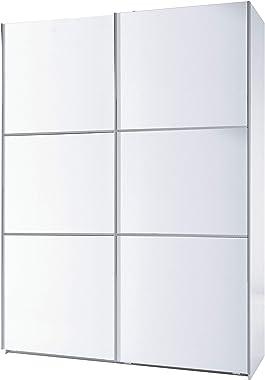Habitdesign Armario Dos Puertas correderas, Armario Dormitorio, Acabado en Color Blanco Brillo, Medidas: 150 (Ancho) x 200 (A