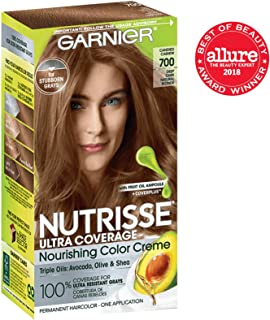 Garnier Nutrisse Ultra Coverage Hair Color, Deep Dark Natural Blonde (Candied Cashew) 700 (Packaging May Vary), Pack of 1