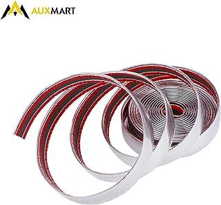 AUXMART شريط من الكروم لتزيين الجزء الخارجي للسيارات والشاحنات وسيارات الدفع الرباعي، 25 مم × 5 متر، فضي