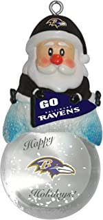 Boelter Brands NFL Unisex NFL Santa Snow Globe Ornament