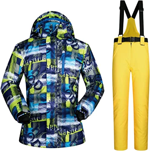 UICICI Ensemble de Veste et Pantalon de Ski d'hiver pour Homme