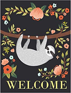 ALAZA Welcome Funny Sloth On Tree Double Sided Garden Yard Flag 12