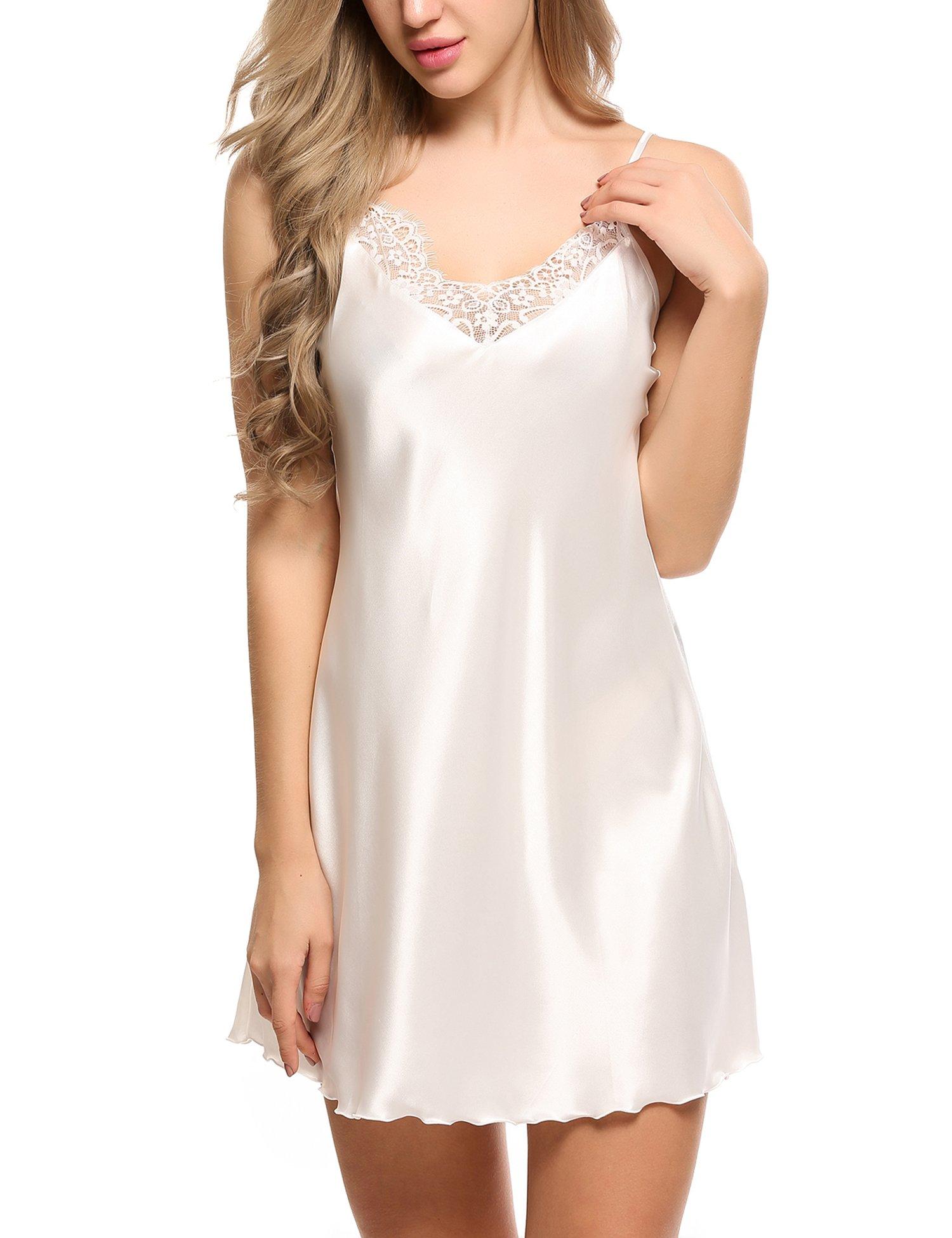 Ekouaer Sleepwear Lingerie Nightgown Loungewear