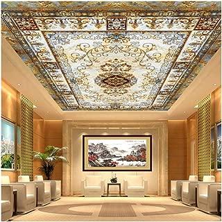 Shuangklei 3D Ceiling Mural Wallpaper Royal Ceiling Mural for Living Room European Style Murals 3D Photo Murals Home Decor -150X120Cm