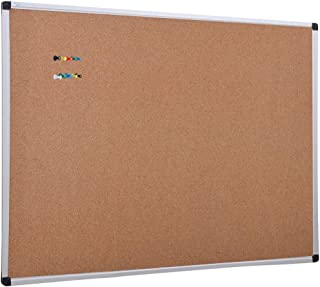 XBoard Cork Board 48 x 36, Bulletin Board Corkboard with Push Pin for Display and Organization
