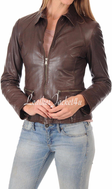 Women's Stylish Genuine Lambskin Leather Jacket 234