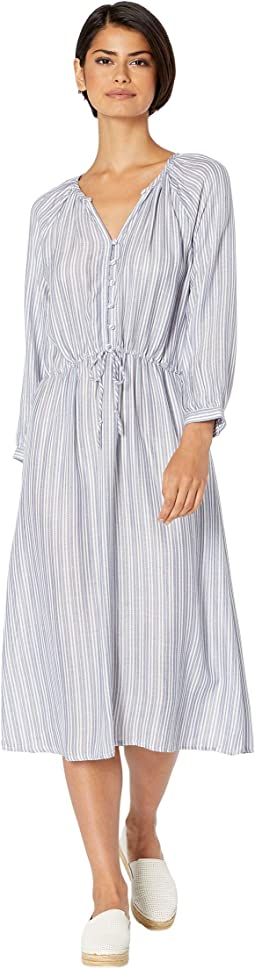 Caityln Catalina Stripe Balloon Sleeve Dress