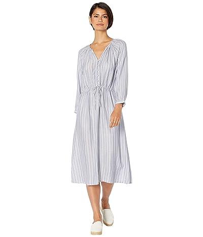 Michael Stars Caityln Catalina Stripe Balloon Sleeve Dress (Blue Iris Stripe) Women