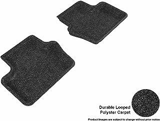 3D MAXpider Second Row Custom Fit Floor Mat for Select Jeep Compass Models - Classic Carpet (Black)