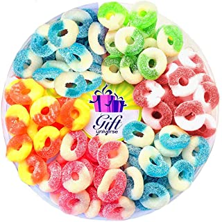 Gift Universe Gummi Rings Candy Gift Tray with Albanese's Best Seller Fruit Flavored Gummi Ring 6 Section Variety Pack of Candies, 2 Lbs