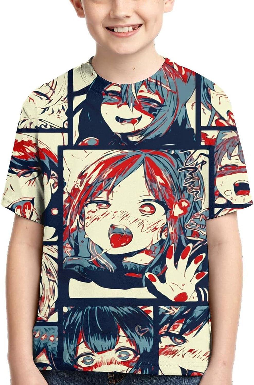 Ahegao T Shirt,3D Print Cute Polo Shirts Short Sleeve Tops,for Youth Tee Boys Girls