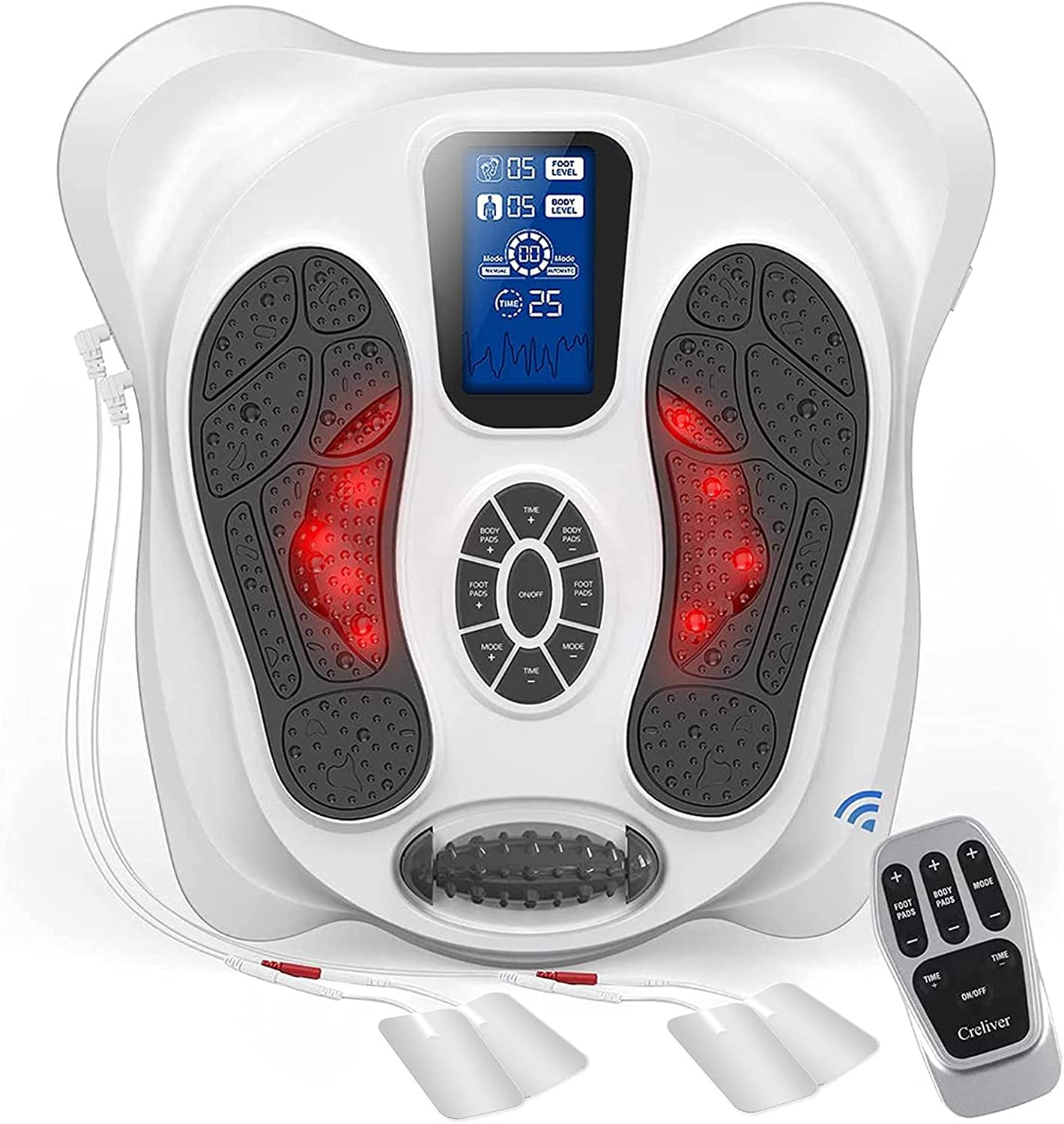 Foot Massager Machine with Detroit Mall 8 Pads Don't miss the campaign Electrode TENS Circulatio