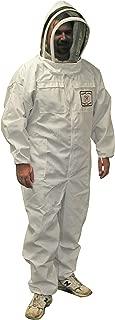 Mann Lake CV110 Cotton/Polyester Honey Maker Bee Suit with Veil, White, Medium