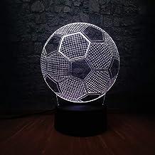 Kids Lamps for Bedroom Soccer Ball Shape Sports 3D LED Lamp Night Light Multicolor Boy's Bedroom Decoration Kids