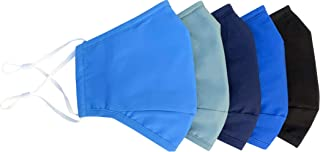 Xchime Protective Cover Washable Reusable,breathable with Adjustable Ear Loops, Nose Wire and Filter Pocket, 3-layer Cotto...