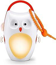 SOAIY Wiederaufladbar LED Nachtlicht Kinder Einschlafhilfe mit 8 Beruhigende Geräusche/ 3 Timer tragbare Sound-Maschine Dimmbar Schlummerlicht für Baby Schlafen Kinderwagen Reisen Warmweiß Eule