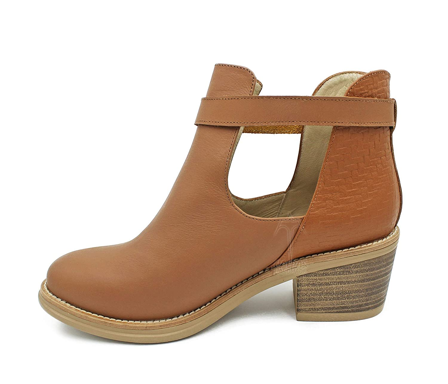 Women's leather ankle San New Free Shipping Diego Mall booties printed P boots open with