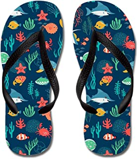 Lplpol Funny Yellow Owls Flip Flops for Kids and Adult Unisex Beach Sandals Pool Shoes Party Slippers