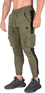 Cargo Joggers Men Skinny Tapered Sweatpants Slim Gym Pants 210