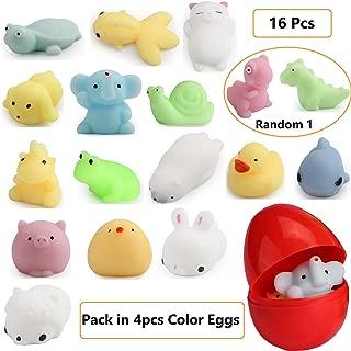 LightAngel 16pcs Squishy Toys Filled Easter Eggs,Easter Basket Stuffer Fillers,Food Grade Prefilled Easter Eggs with Surprise Funny Toys,Prize Rewards for kids,Soft Stress Relief