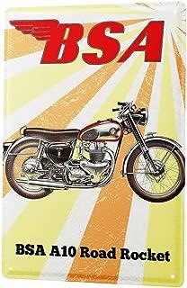KPSheng Tin Sign Nostalgic Plate BSA A10 Road Rocket Metal Wall Plate 8X12