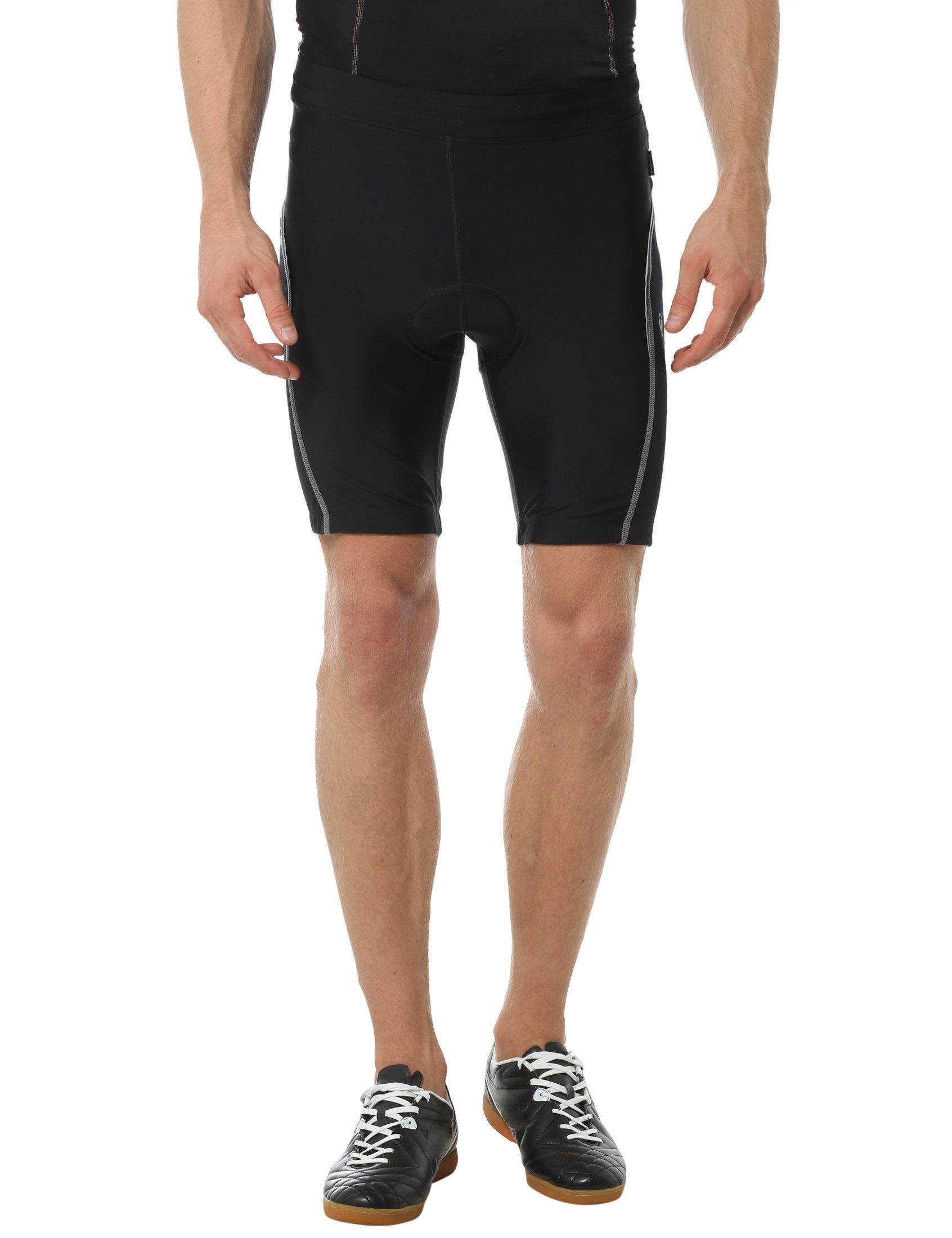 Ultrasport Herren Fahrradhose mit Vorgeformter Polsterung, Schwarz/Grau, S