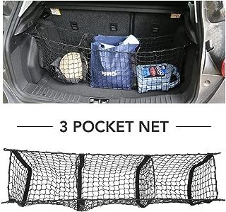 compatible avec la plupart des SUV et berlines 9/MOON Filet de rangement arri/ère pour voiture en nylon excellent espace de rangement
