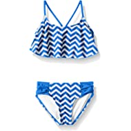 Kanu Surf Girls' Alania Flounce Bikini Beach Sport 2-Piece Swimsuit