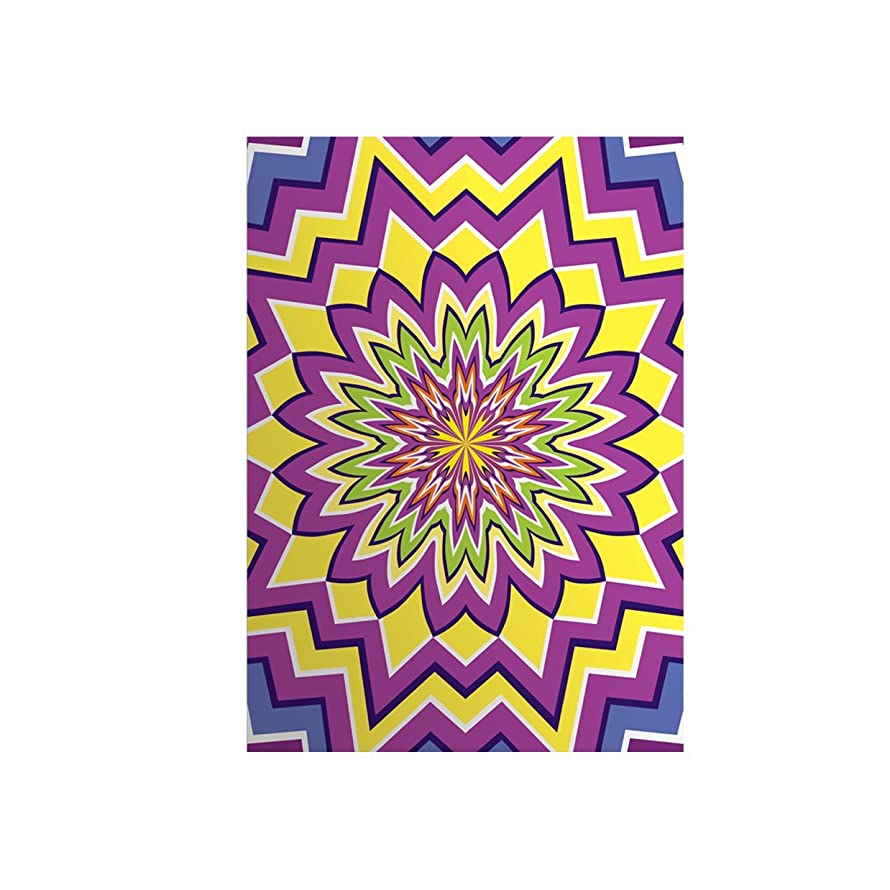 Daycraft Illusions 6.5mm A5 Lined Paper - Purple/Yellow/ Green